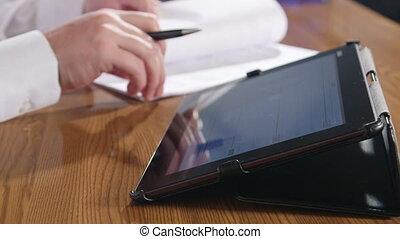 bureau, informatique, tablette, numérique