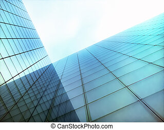 bureau, moderne, affaires mondiales, gratte-ciel, bâtiment
