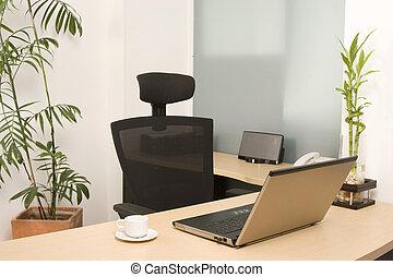 bureau, moderne, lieu travail