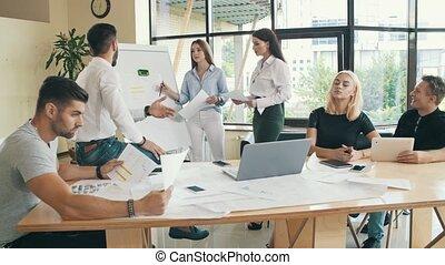 bureau, papiers, fonctionnement, equipe affaires