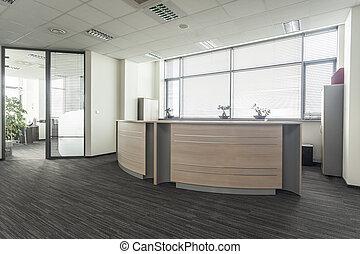 bureau, réception