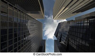 bureau, réussi, district, sociétés, business, bâtiments, gratte-ciel