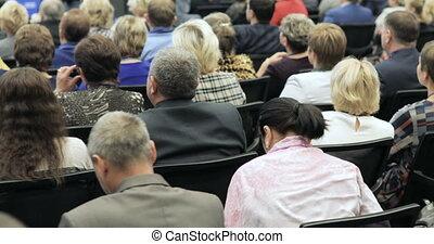 bureau, séminaire, conférence affaires, gens, concept., entrepreneurship, conference., réunion, formation, parole, orateur, dit