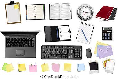 bureau, supplies., business