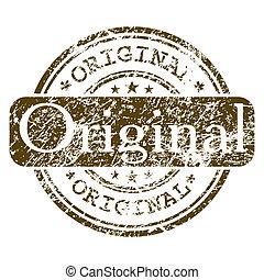 bureau, timbre, -, eps, caoutchouc, original., 8
