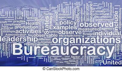 bureaucratie, concept, fond