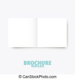 business, édition, presentation., gabarit, brochure, trifold