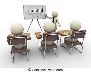 business, 3d, présentation