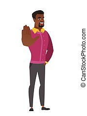 business, african-american, projection, paume, main., homme