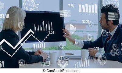 business, analyser, données, technologie, créatif, visuel