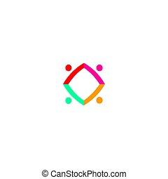 business, art, gens, blanc, ensemble, signe, isolé, symbole