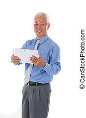 business, asiatique, personne agee, est, sud, homme