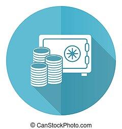 business, banque, blanc, conception, illustration, isolé, sûr, plat, rond, argent, eps, vecteur, fond, icône, 10, bleu