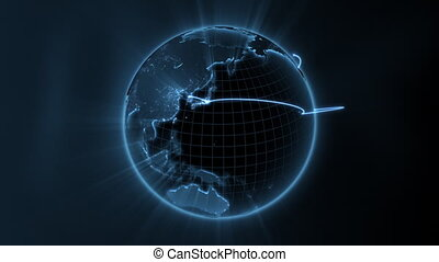 business, boucle, -, global, centre