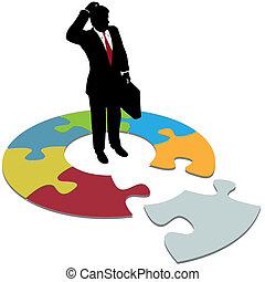 business, confondu, disparu, solution, questions, morceau, homme