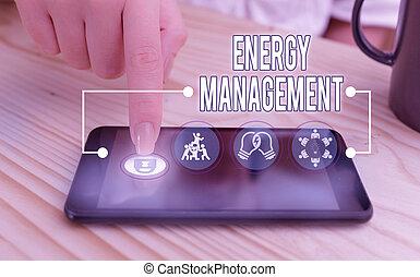 business, contrôler, showcasing, écriture, photo, énergie, projection, conserver, usage., management., manière, poursuite, note