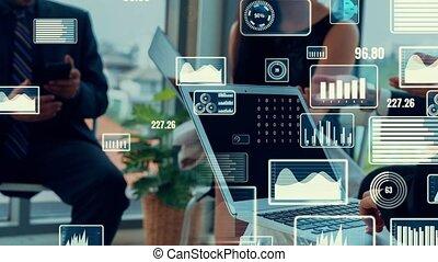 business, créatif, données, technologie, visuel, analyser