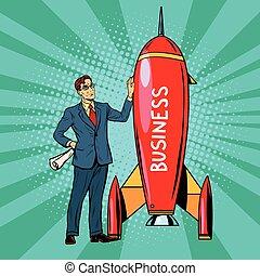 business, démarrage, fusée