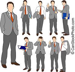 business, ensemble, groupe, 01, hommes