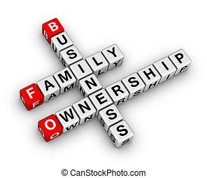 business, famille, propriété