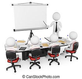 business, gens., 3d, atelier, blanc