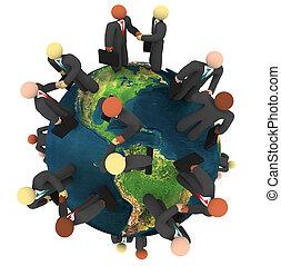 business, global, -, affaires, poignées main, international