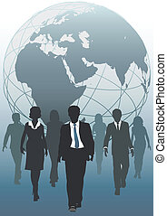 business, global, emergent, équipe, mondiale, ressources