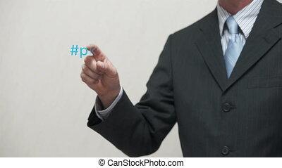 business, homme affaires, ha, mots, pokes
