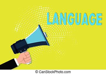 business, huanalysis, parlé, photo, projection, language., écriture, note, méthode, écrit, non plus, mots, communication, showcasing, consister