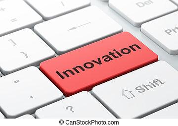 business, innovation, informatique, fond, clavier, concept: