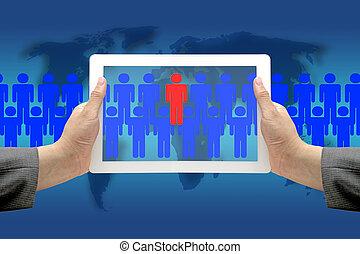business, mondiale, recrutement