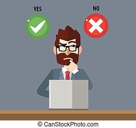business, opti, confondu, choisir, homme