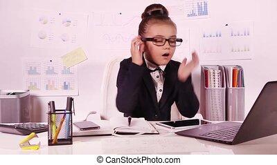 business, petite fille, fonctionnement