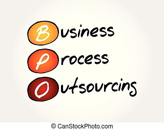 business, processus, -, bpo, acronyme, outsourcing