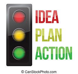 business, processus, lumière, planification, conception, trafic