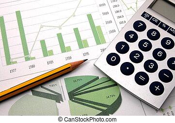 business, projection, diagramme, reussite