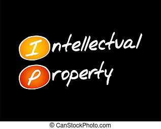 business, -, propriété, concept, ip, intellectuel, acronyme