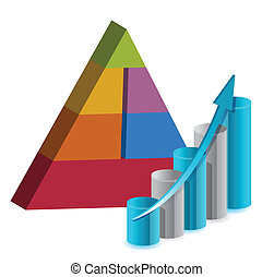 business, pyramide, diagramme, illustration