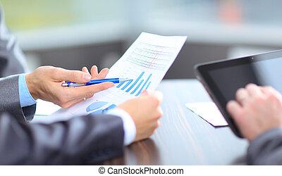 business, résultats, ensemble, recherche, analyser, équipe, marché