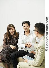 business, séance, consultation, couple