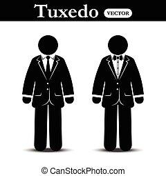 business, ), smoking, crosse, complet, (, homme, usure
