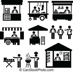 business, stalle, magasin, marché, cabine