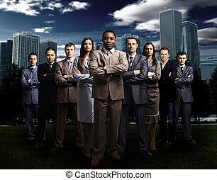 business, sur, international, équipe, m