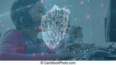 business, sur, working., numérique, gens, sécurité