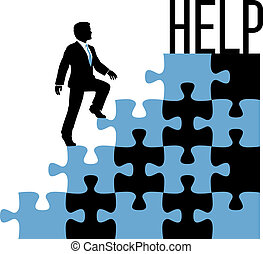 business, trouver, personne, solution, aide