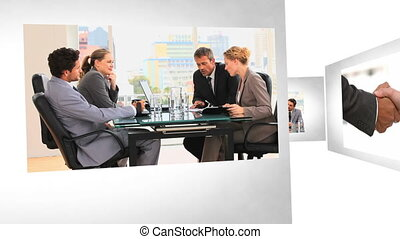 businesspeople, montage