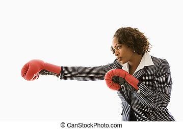 businesswoman., compétitif