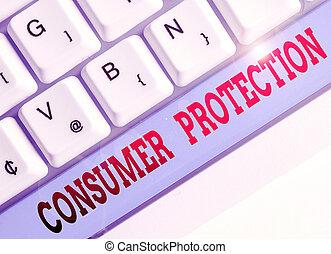 but, projection, protéger, texte, protection., signe, photo, consommateur, droits, consumers., règlement, conceptuel