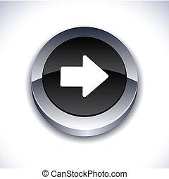 button., flèche, 3d