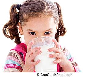 buvant lait, enfant
